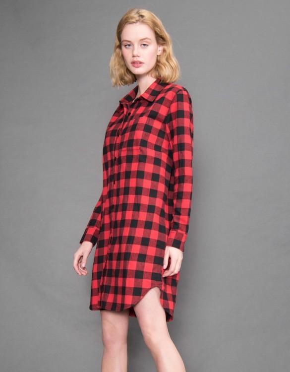 Robe chemise Clark - Couleur unique