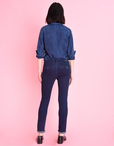 Chino Trousers Sandy Fleece - INDIGO