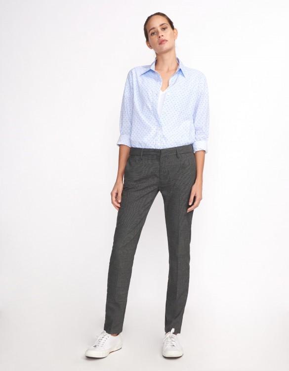 Cigarette Trousers Lizzy Fancy - GRIS CHINE FONCE