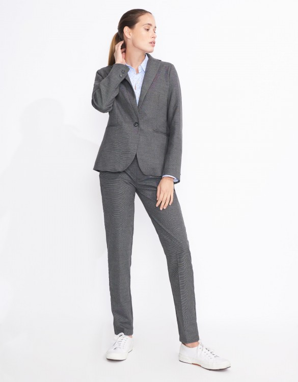 Veste blazer Birkin Fancy - GRIS CHINE FONCE