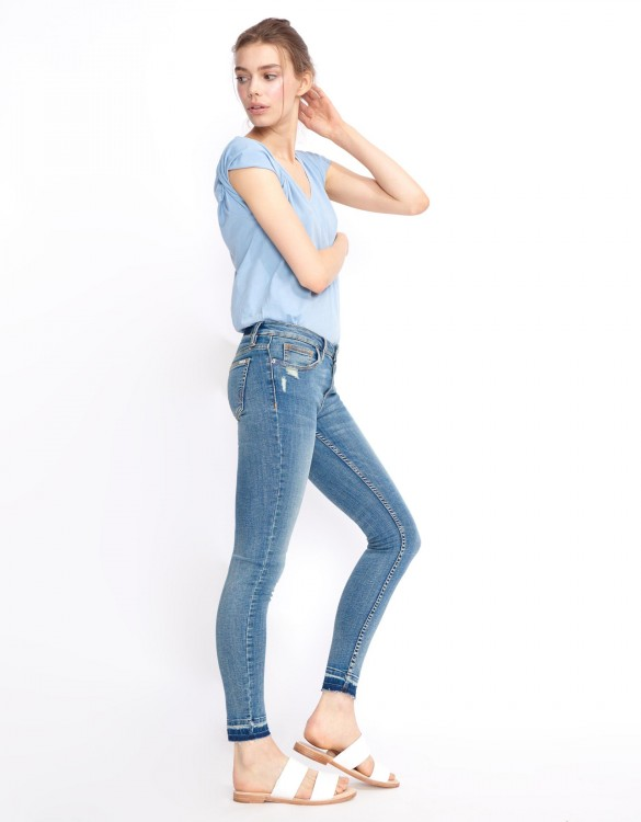 Skinny cropped jean Lily - DENIM M-56
