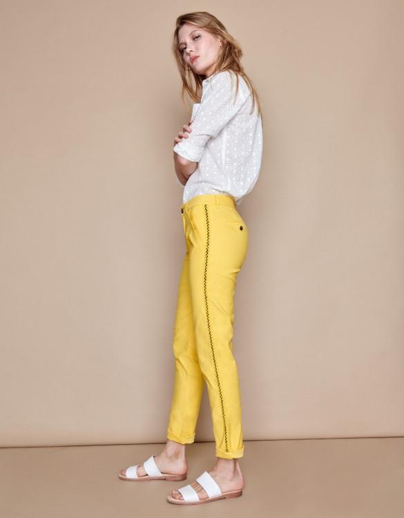 Pantalon chino Sandy Herring - MUSTARD