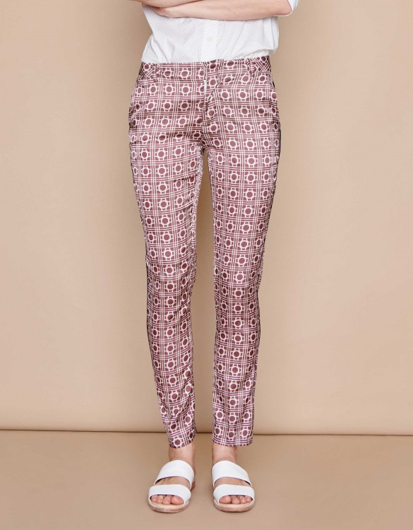 Pantalon Cigarette Lizzy Piping - NAUTICAL ROPE
