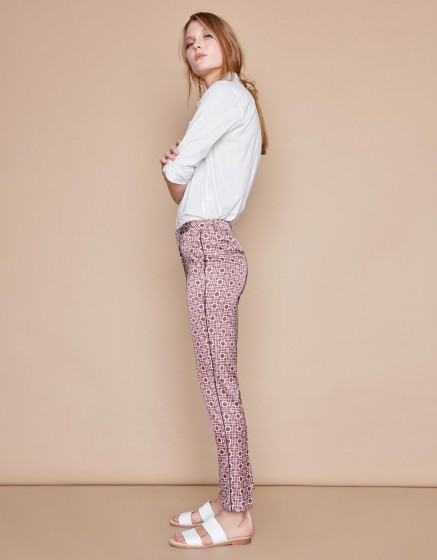 Pantalon Cigarette Lizzy Piping - NAUTICAL ROPE