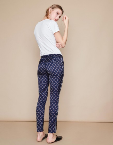 Trousers Lizzy Piping - NAVY GATE