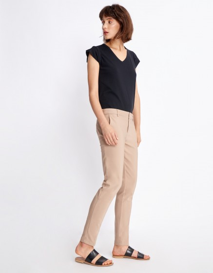 Cigarette Trousers Lizzy Color - MOKA