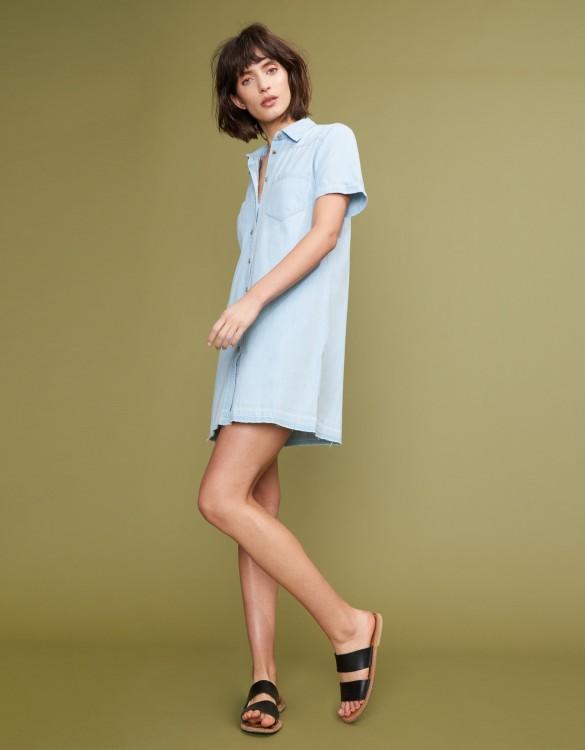 Denim dress Carol - LIGHT BLUE
