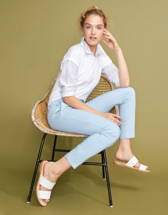 Pantalon Cigarette Lizzy Color - LIGHT BLUE