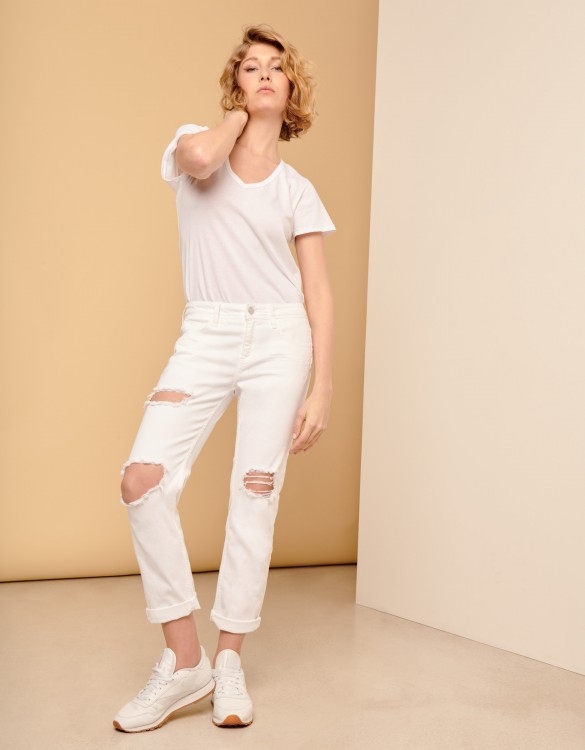 Jean boyfriend Nina - DENIM WHITE