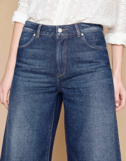 Jean wide cropped Pedro - DENIM B-71
