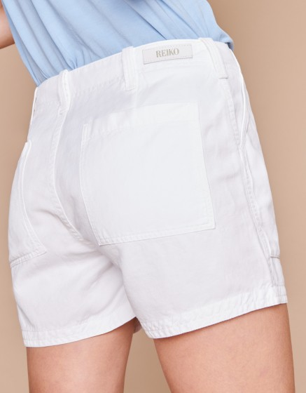Bermuda Shelby Linen - WHITE