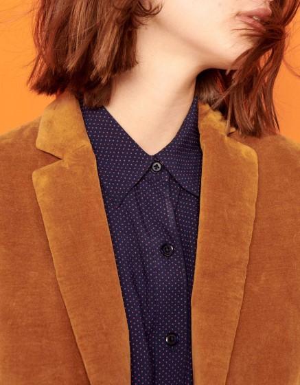 Veste blazer Blair Velvet - CHAMOIS