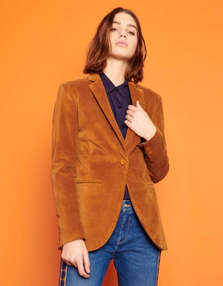 Blazer jacket Blair Velvet - CHAMOIS