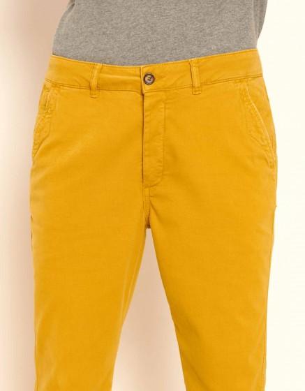 Pantalon chino tapered Scott - DARK HONEY