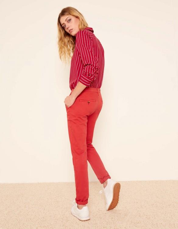 Pantalon chino Sandy 2 Basic - BURNT RED