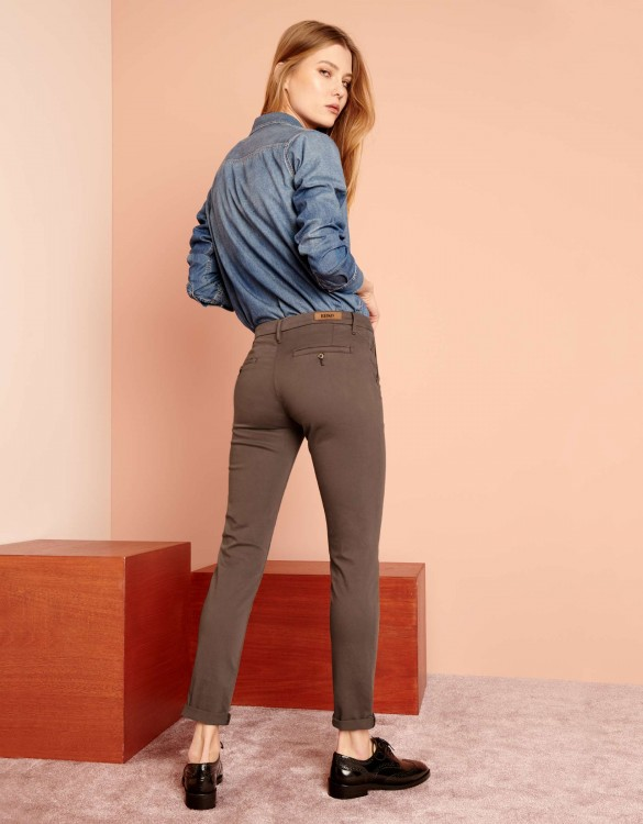 Pantalon chino Sandy 2 Basic - SEPIA