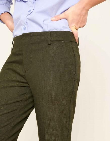 Pantalon cigarette Lizzy Fancy - GREEN BERRY