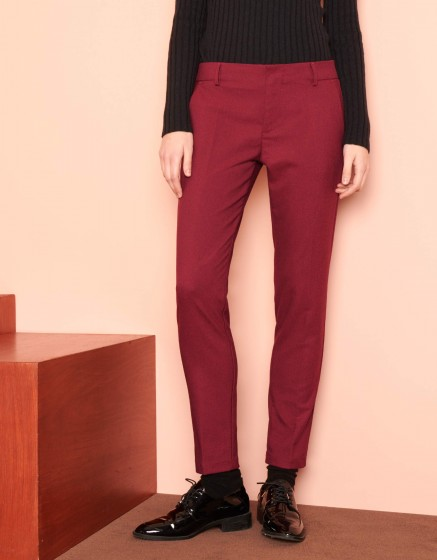 Pantalon cigarette Lizzy Fancy - RED BERRY