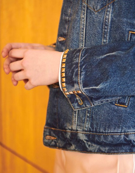 Jean jacket Vahia Studs - DNM BLUE