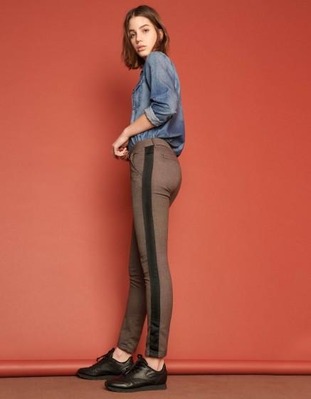 Pantalon chino Sandy Fancy - HERRING MESH
