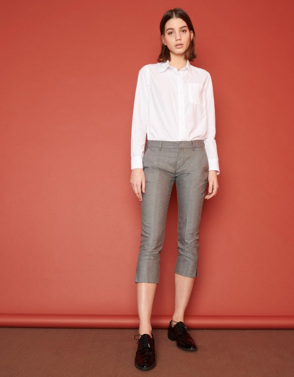 Cigarette cropped trousers Laura Fancy - TWILL
