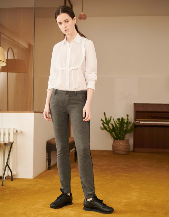 Pantalon chino Sandy Fancy - HERRING GREY