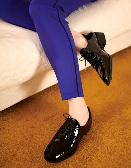 Pantalon Cigarette Lizzy Color - VICTORIAN BLUE PIPING