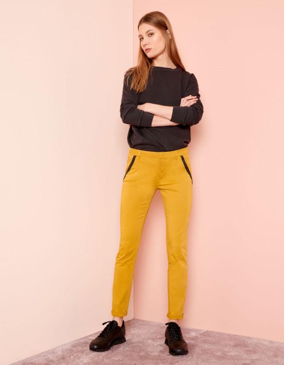Chino Trousers Sandy Ribbon - DARK HONEY