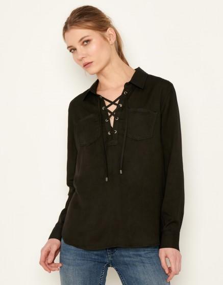 Shirt Caty Color - BLACK