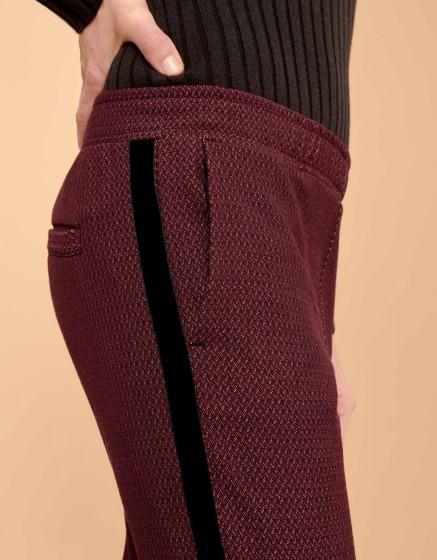 Pantalon street Elvin Fancy - PLUM CHEVRON