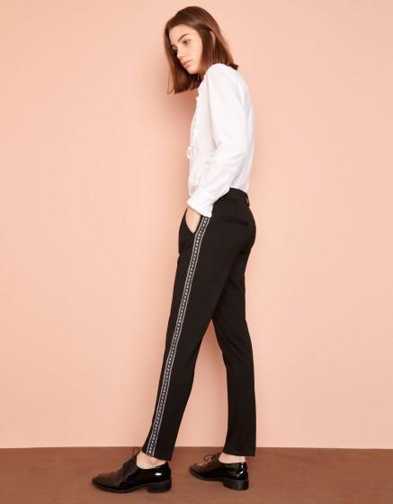 Pantalon cigarette Lizzy Herring - BLACK