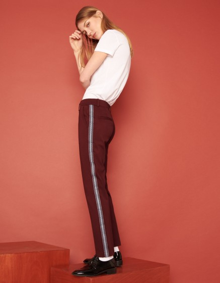 Pantalon cigarette Lizzy Herring - LIE DE VIN
