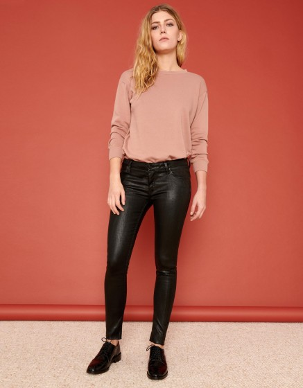 Skinny cropped jean Lily Enduction - BLACK
