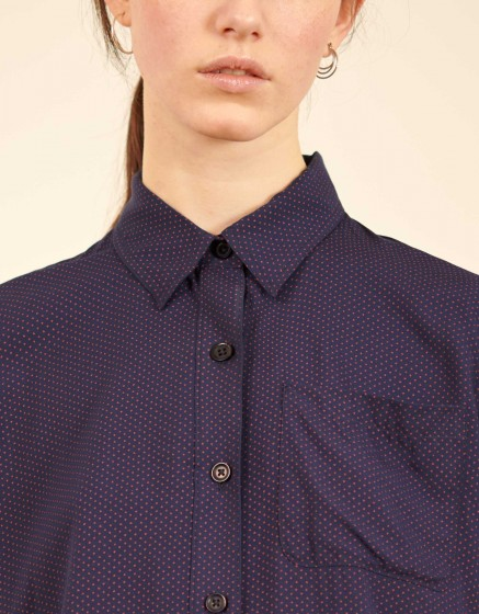 Chemise Carl Printed - NAVY HEARTS