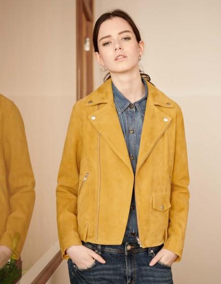 Perfecto jacket Pacey - DARK HONEY