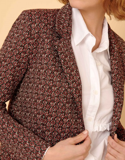 Veste blazer Blair Fancy - BURGUNDY
