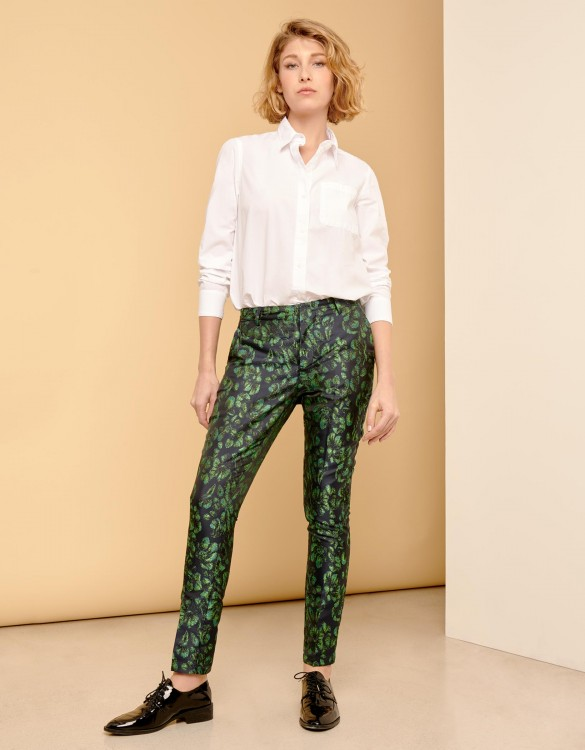 Cigarette Trousers Lizzy Fancy - PEACOCK