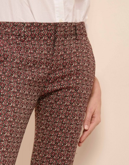 Pantalon cigarette Lizzy Fancy - BURGUNDY
