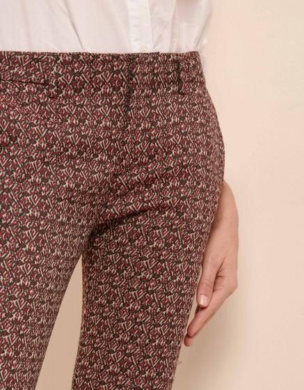 Cigarette Trousers Lizzy Fancy - BURGUNDY