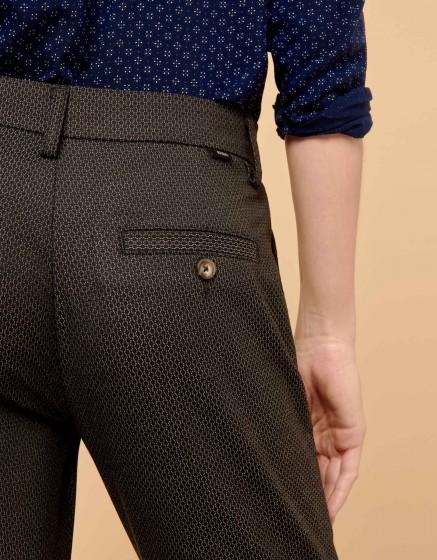 Pantalon cigarette Larson Fancy - GREY SCALED