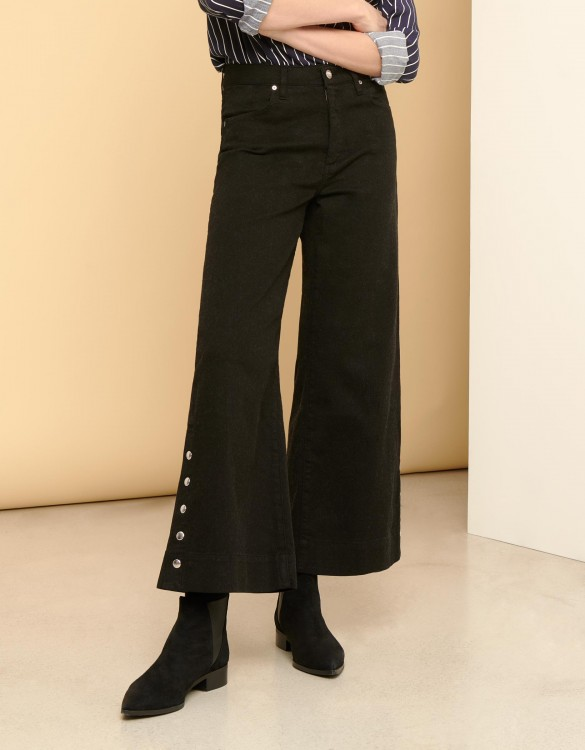 Pantalon wide cropped Pierrick - DNM BLACK