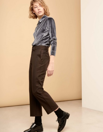 Straight cropped trousers Luis Fancy - COPPER SCALED