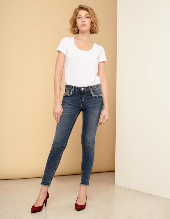 Jean skinny cropped Lily Fringe - DNM V-51