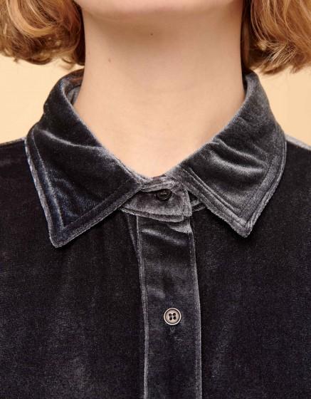 Shirt Carlo Velvet - CARBONE