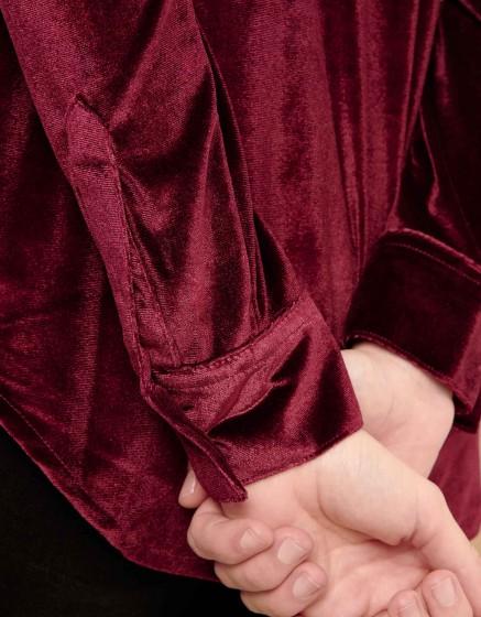 Shirt Carlo Velvet - LIE DE VIN
