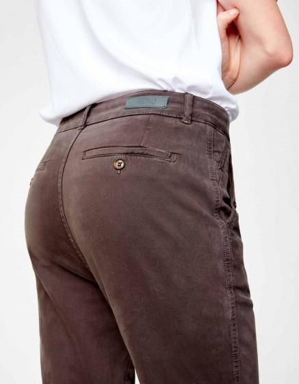 Chino tapered Trousers Scott - CARBONE