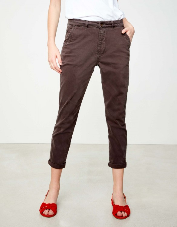 Pantalon chino tapered Scott - CARBONE
