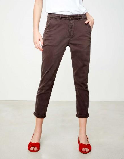 cdb16b12465 Pantalon chino tapered Scott - CARBONE