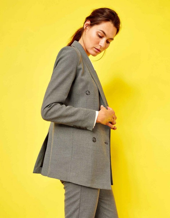 Blazer jacket Basil Fancy - BLACK MESH