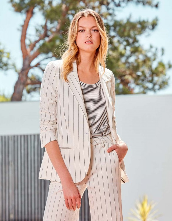 Blazer jacket Blair Fancy - WHITE STRIPED